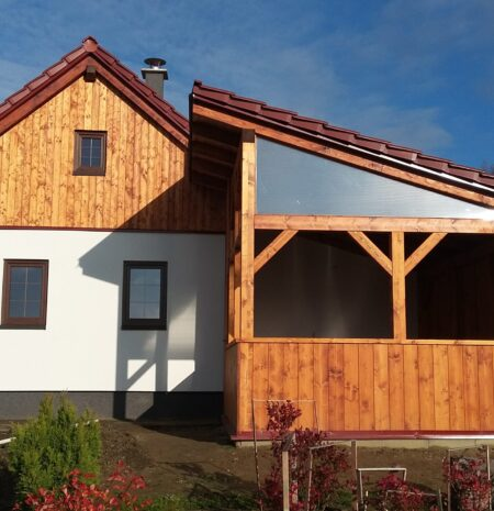 Dřevostavba po rekonstrukci
